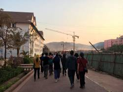 HKU Landscape students at Boten Special Economic Zone, Laos. By NG Hei Ting Anna, 2019.
