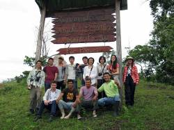 HKU students with PUR (NGO) at Santa Rosa Botanical Garden, San Martin, Peru. By Ashley Scott Kelly, 2012.