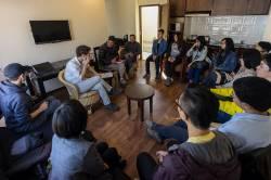 Meeting with Professor Bharat Sharma, Tribhuvan University. By LAU Kin Yip Ken, 2016.