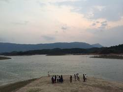 Nam Ngum Reservoir. By Ashley Scott Kelly, 2018.