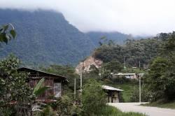 Settlements along the Carretera IIRSA Norte in the Cordillera Escalera Regional Conservation Area, San Martin, Peru. By Ashley Scott Kelly, 2012.