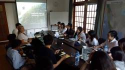 Students meeting with World Wide Fund for Nature (WWF) Myanmar in Yangon. By Maxime Decaudin, 2017.