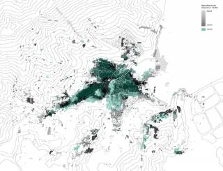 Agricultural land cover change of Lai Chi Wo. By KHOO Ting Fung Natalie, 2015.