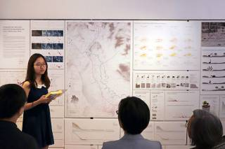 HKU students present their planning and design strategies for the China-Laos railway. By Aristo Chan, 2018.