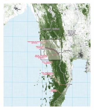 Planned linear infrastructure projects bisecting a globally important ecological corridor. By Ashley Scott Kelly, 2019.